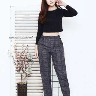 BASIC HOUNDSTOOTH PANTS