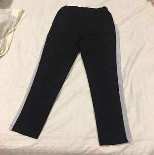 black white stripe pants