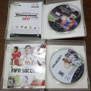 Winning Eleven 2011 and Fifa 11