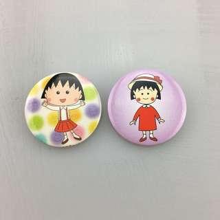 Chibi Maruko-Chan Badge Pin