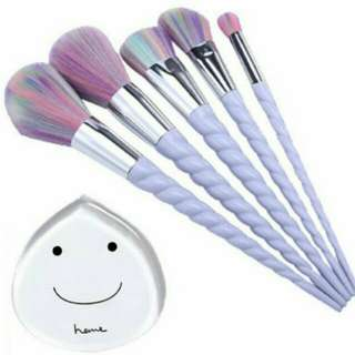(Clearance) Set - Unicorn Pastel Make Up Brushes