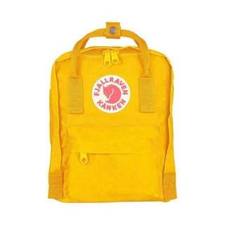 🎉SALE🎉 FJALLRAVEN KANKEN MINI BACKPACK (WARM YELLOW)