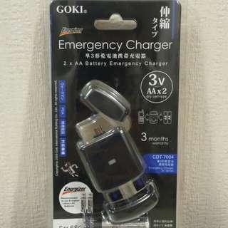 全新 GOKI 3V AAx2 充電器 連電池