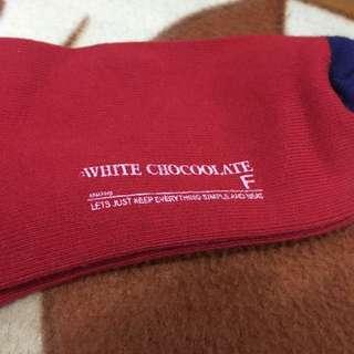 全新White Chocoolate襪 $10