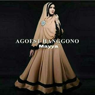 F Mayya Syari Coksu 126.000 Bhn jersey premium, mx tgn pjg,pinggang blkg karet, bergo fit to xl no bross brt 0,60