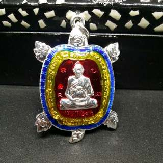Wealth Turtle Rian With LP Liew Image & Wealth Yant Amulet