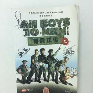 Ah Boys To Men signed Comic