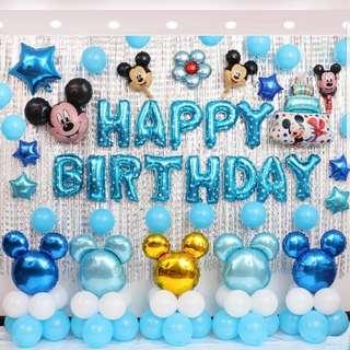 Instock🎶Balloons/birthday sets/celebration birthday party set