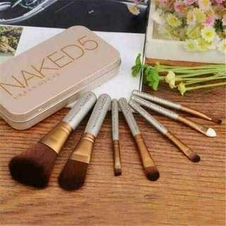 Naked5 7pcs brush set