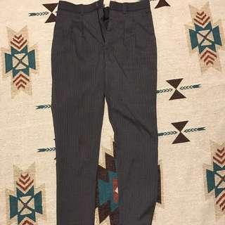 🚚 plain me 西裝打折褲 灰 窄版28腰