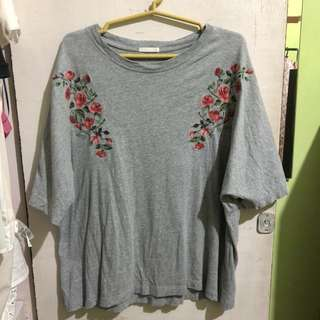 GU floral embroidered top