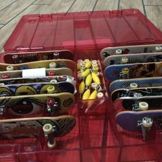 Tech deck skate boards with ramp