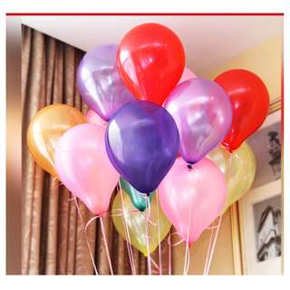 Pearlish Color Balloons, 10 inch