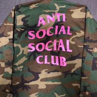 Anti social social club camo jacket