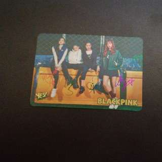 BLACKPINK YES CARD (簽卡)