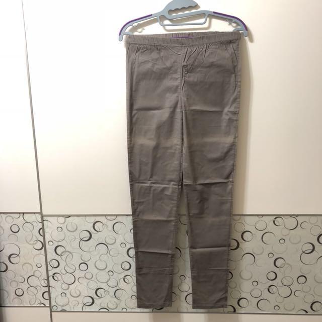 超薄合身褲-2(灰)