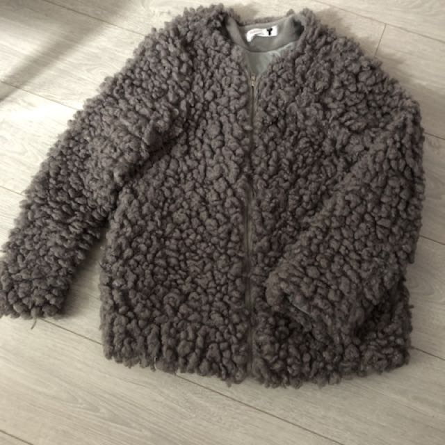 正韓 羔羊毛外套