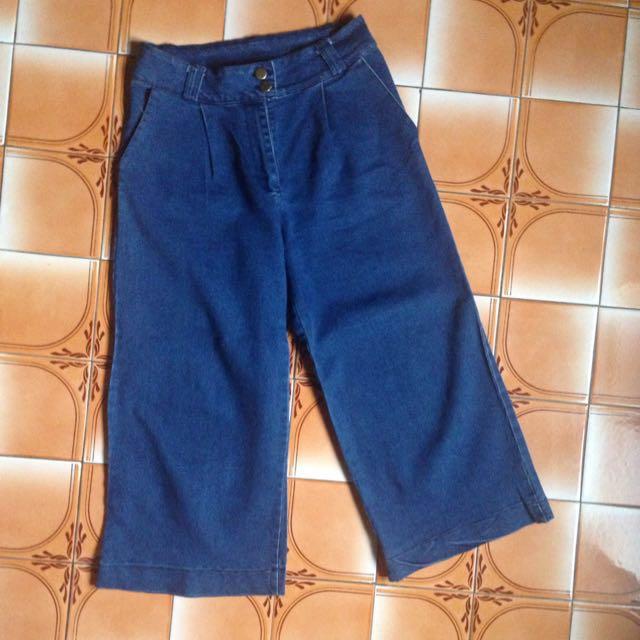 深藍款褲 九分