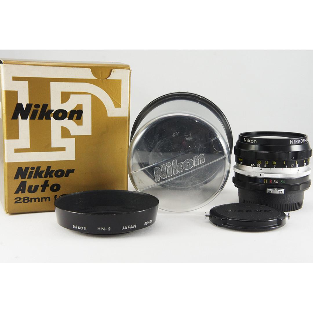 **日光銀鹽** Nikon Non-AI Nikkor-H 28mm F3.5 定焦廣角鏡 #321