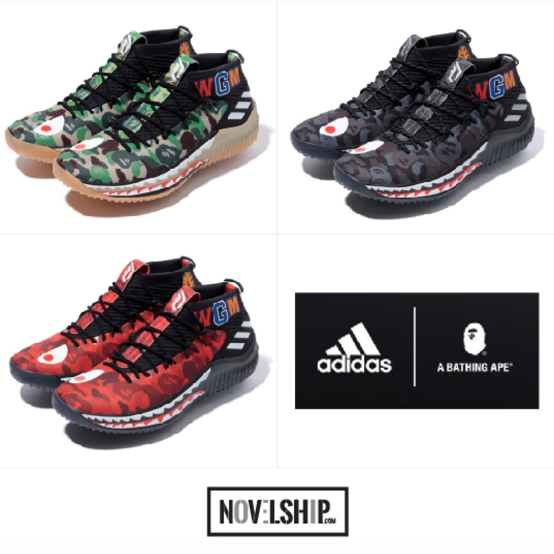 6ab404f736a999 ADIDAS by BAPE® Damian Lillard 4 (Multi Colour-way)