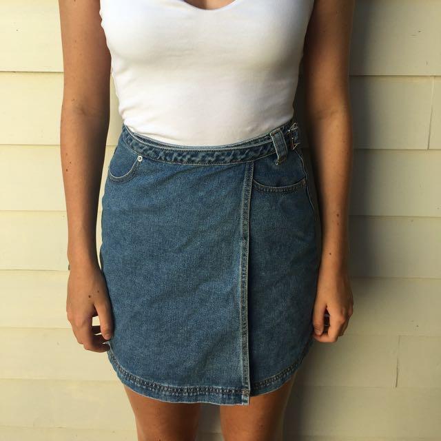 Adjustable Denim skirt