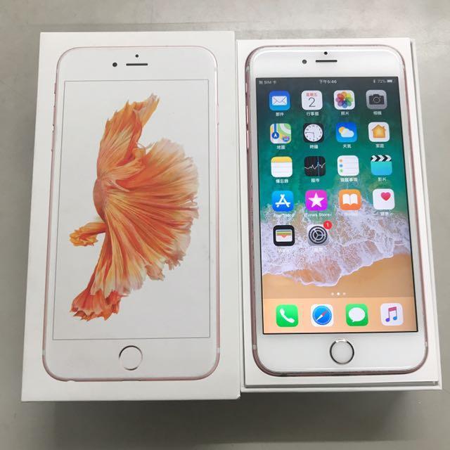 APPLE IPHONE 6S PLUS 64G 玫瑰金!