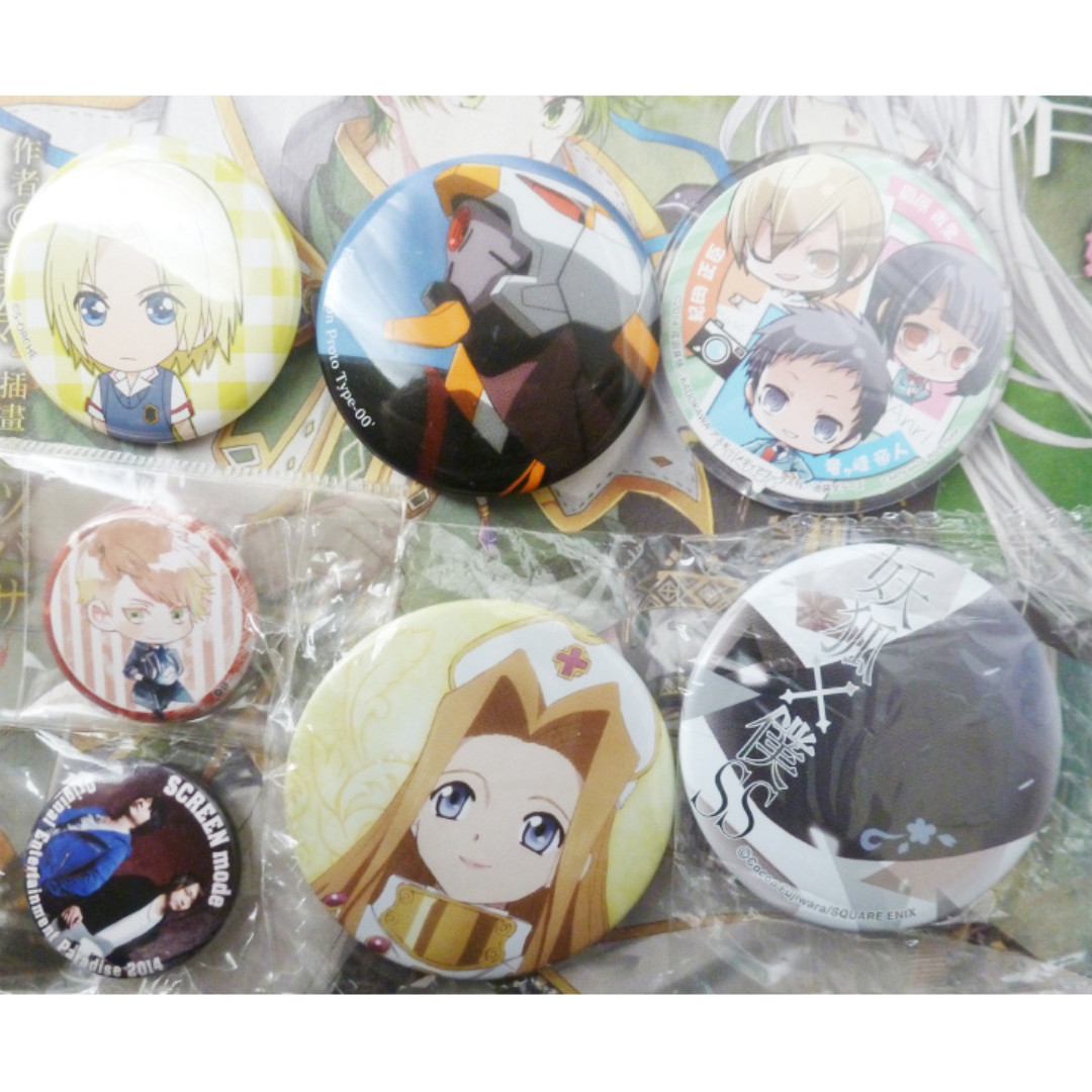 Assorted Anime Badges OFFICIAL