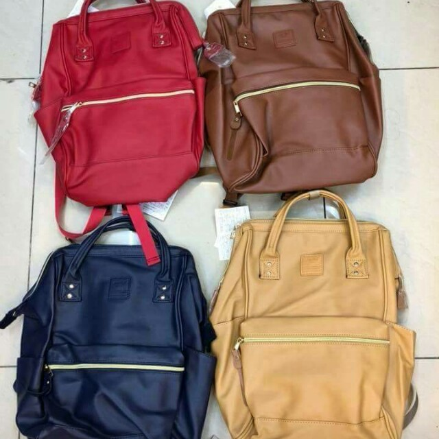 Auth. ANELLO bagpack leather.