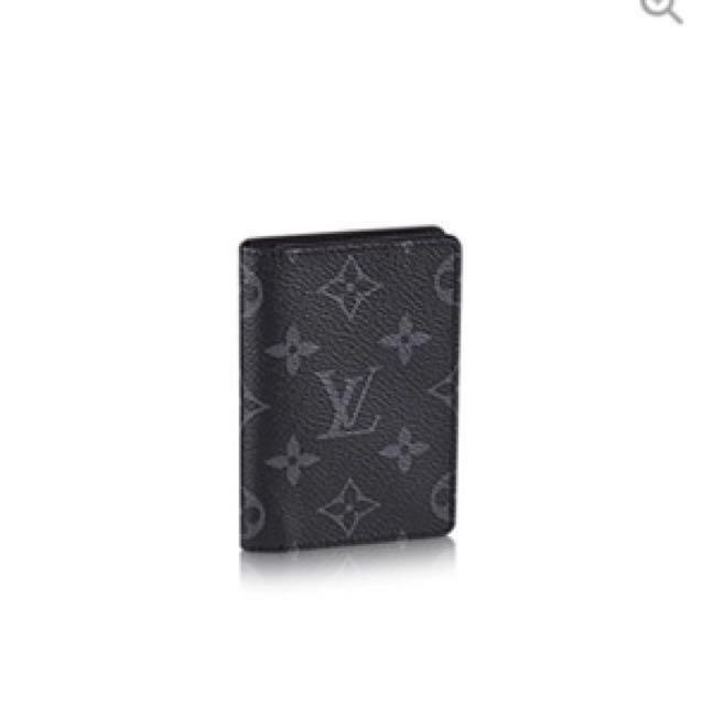 Authentic LV Louis Vuitton Eclipse Monogram Pocket Organiser