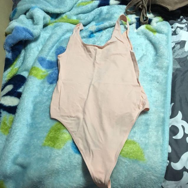 Babaton pink bodysuit
