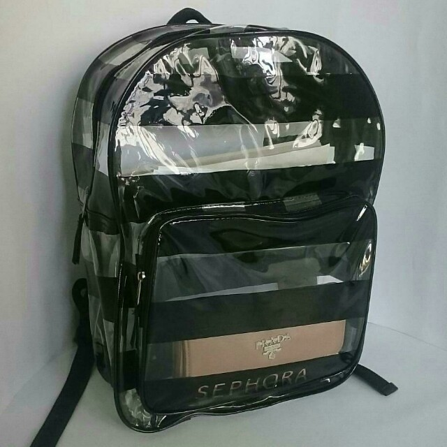 Backpack transparan sephora