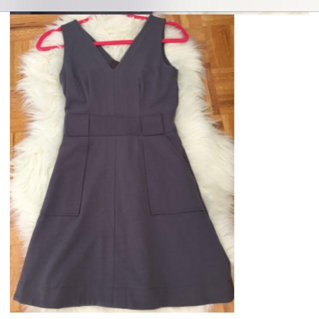 Banana Republic sz-XS Grey Dress w/ Belt