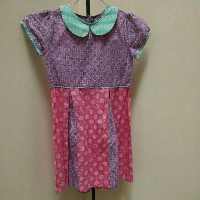 Batik Pleated Dress