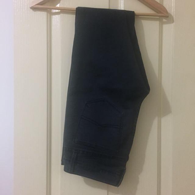 Black/Charcoal Skinny Jeans 8
