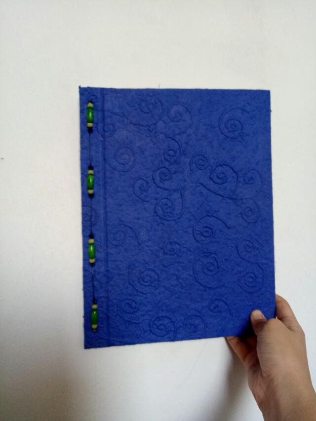 Blue Scrapbook Album