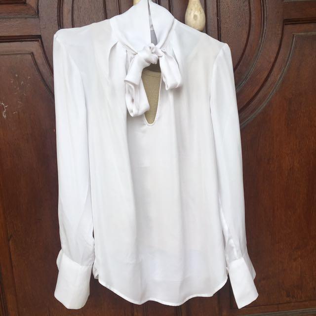 Bow white shirt