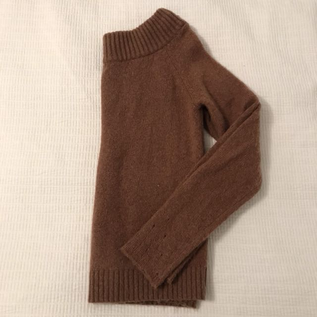 Brown off the shoulder sweater size small