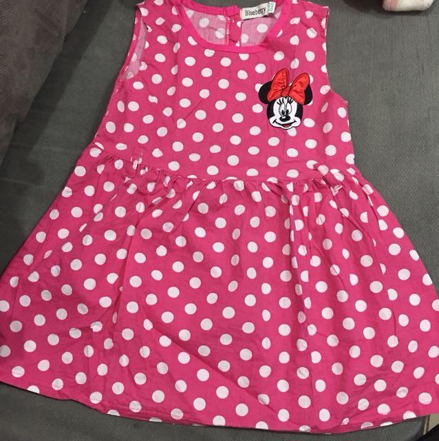 Bundle mini mouse dress and snoopy leggings