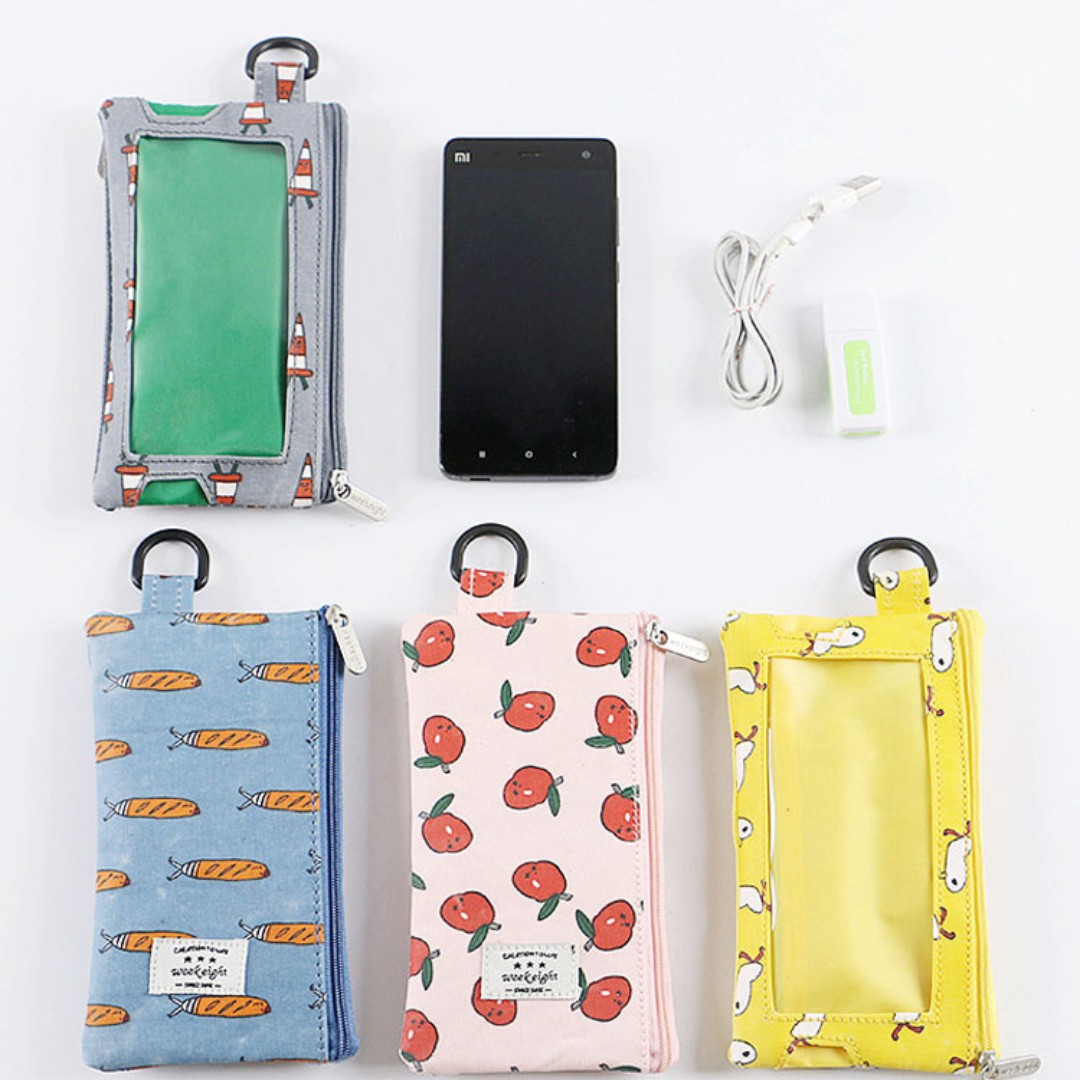 Cartoon Transparent Phone Bag Cell Phone Pouch B13901