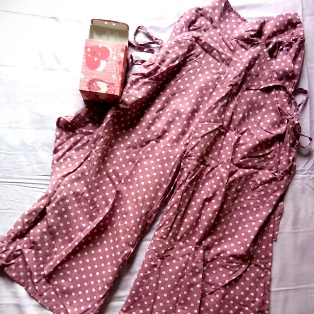 Celana Aladin Pink Motif Polkadot