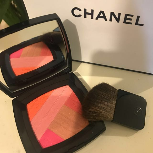 CHANEL Sunkiss Ribbon Blush Harmony 2016 BRAND NEW without box with Chanel Beauté Bag and Pouches