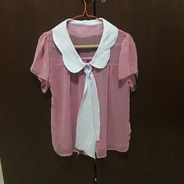 #CNY2018 Pink Sheer Blouse