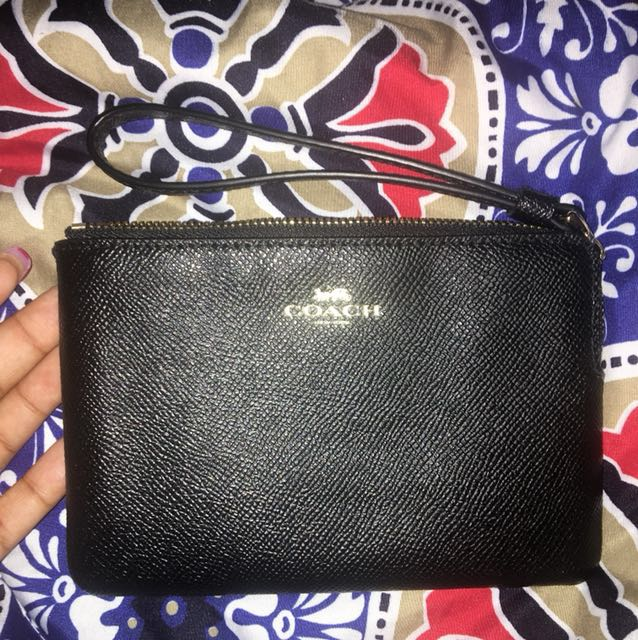 Coach Black & Gold wristlet.