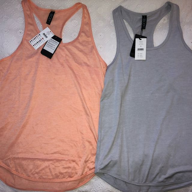 Cotton On Body Training Tops Size Small Grey and Orange