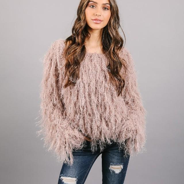 Cozy fuzzy sweater