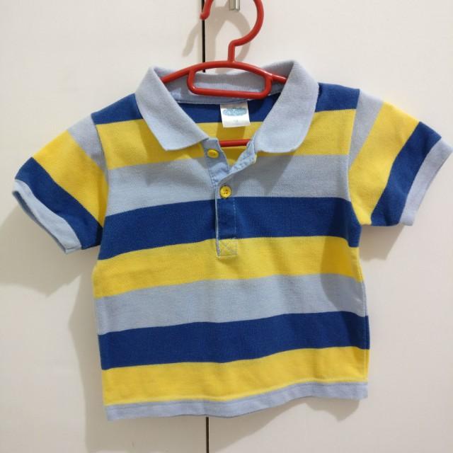 Crib Couture Stripes Polo Shirt 18M Baby Boy Toddler