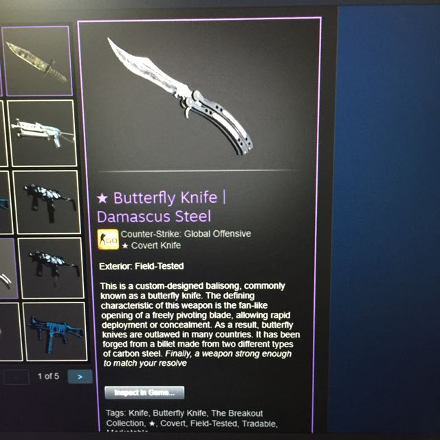damascus steel knife cs go