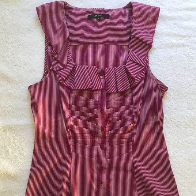 Cue Magenta Blouse size 8