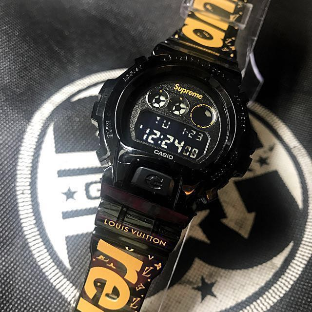 Custom LV Supreme G-Shock  💯% Original G-Shock Is Used , Men's