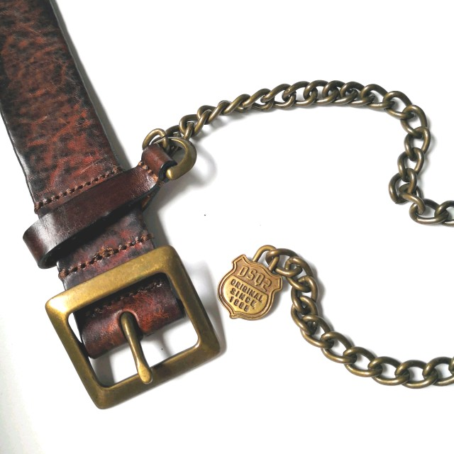 Dsquared leather belt with chains